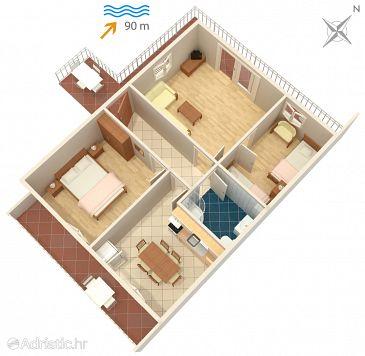 Apartman A-1005-b - Apartmanok Mastrinka (Čiovo) - 1005
