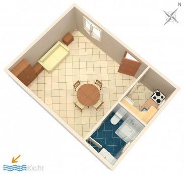 Studio AS-2987-a - Apartamenty Vinišće (Trogir) - 2987