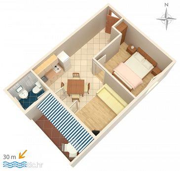 Apartma A-4066-a - Apartmaji in sobe Zubovići (Pag) - 4066