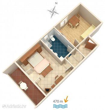 Apartma A-4862-a - Apartmaji in sobe Barbat (Rab) - 4862