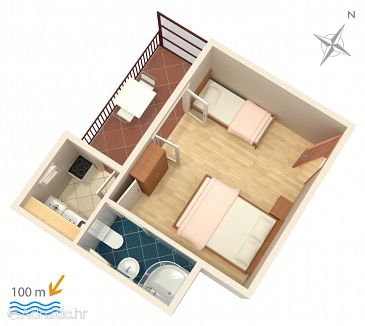 Studio AS-515-a - Appartement Podaca (Makarska) - 515