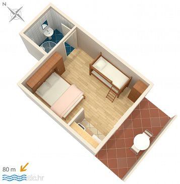 Garsonieră AS-547-a - Apartamente și camere Zavalatica (Korčula) - 547