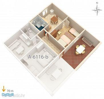 Apartma A-6116-a - Apartmaji Marina (Trogir) - 6116