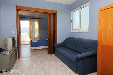 Viganj, Living room u smještaju tipa studio-apartment, dostupna klima, dopusteni kucni ljubimci i WIFI.