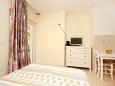 Orebić, Bedroom u smještaju tipa studio-apartment, dostupna klima, dopusteni kucni ljubimci i WIFI.
