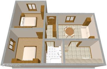 Apartment A-1021-a - Apartments Zavode (Omiš) - 1021