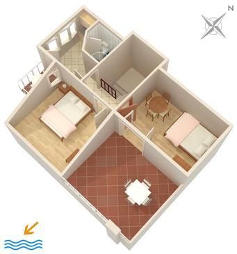 Apartment A-1022-b - Apartments Zavode (Omiš) - 1022