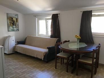 Stanići, Dining room u smještaju tipa apartment, dostupna klima i WIFI.