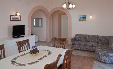 Zečevo Rtić, Living room u smještaju tipa apartment, dostupna klima, dopusteni kucni ljubimci i WIFI.