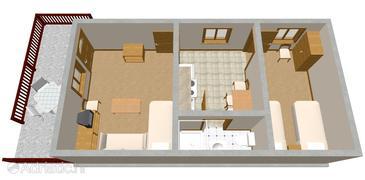 Apartment A-1035-a - Apartments Seget Vranjica (Trogir) - 1035