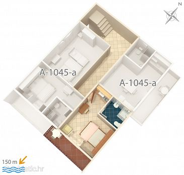 Studio flat AS-1045-a - Apartments Medići (Omiš) - 1045