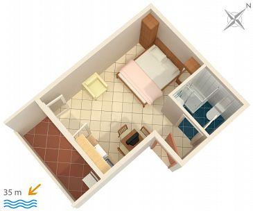 Studio flat AS-1047-d - Apartments Medići (Omiš) - 1047