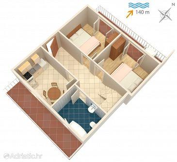 Apartment A-1050-a - Apartments Seget Vranjica (Trogir) - 1050