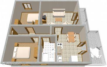 Apartment A-1051-d - Apartments Seget Vranjica (Trogir) - 1051