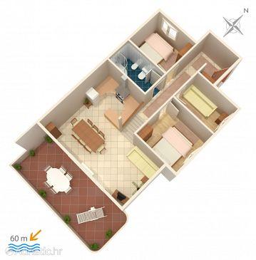 Apartmán A-1068-a - Ubytovanie Rastići (Čiovo) - 1068