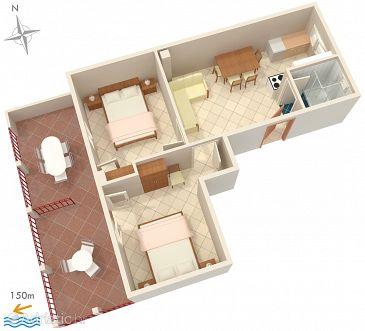 Okrug Gornji, Plan u smještaju tipa apartment, WIFI.