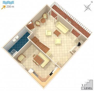 House K-1074 - Vacation Rentals Seget Vranjica (Trogir) - 1074
