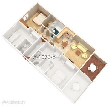 Apartment A-1076-c - Apartments Mavarštica (Čiovo) - 1076