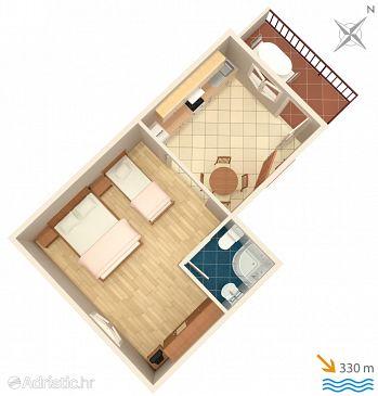 Studio flat AS-1093-a - Apartments Marina (Trogir) - 1093