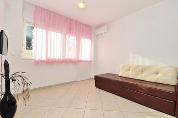 Kaštel Stari, Living room u smještaju tipa apartment, dostupna klima i WIFI.