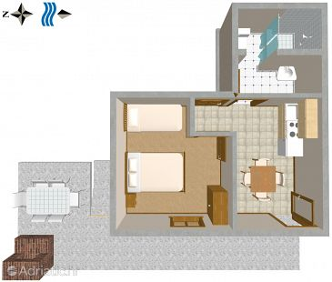 Mavarštica, Plan kwatery u smještaju tipa apartment, WIFI.