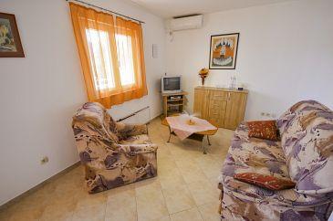 Poljica, Living room u smještaju tipa apartment, dostupna klima i WIFI.
