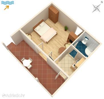 Studio flat AS-1122-b - Apartments Arbanija (Čiovo) - 1122