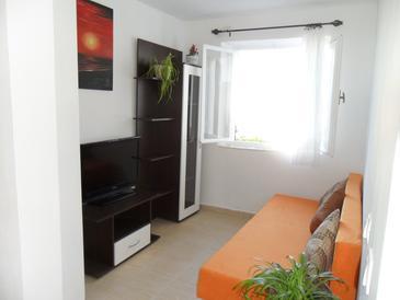 Tisno, Living room u smještaju tipa apartment, dopusteni kucni ljubimci i WIFI.