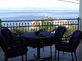 Stomorska, Terrace u smještaju tipa apartment, s pogledom na more i WIFI.
