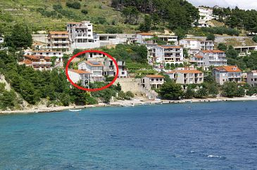 Property Stanići (Omiš) - Accommodation 1133 - Vacation Rentals near sea with pebble beach.