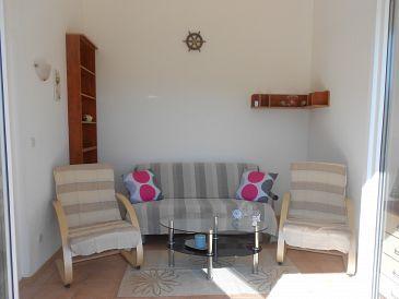 Nečujam, Living room u smještaju tipa apartment, dostupna klima i dopusteni kucni ljubimci.