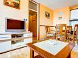 Split, Living room u smještaju tipa apartment, dostupna klima i WIFI.