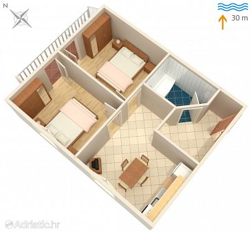 Apartment A-1164-b - Apartments Marina (Trogir) - 1164