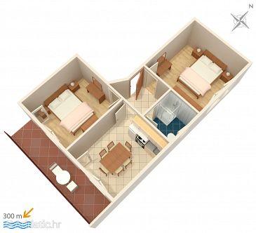 Apartament A-1165-a - Apartamenty Vinišće (Trogir) - 1165