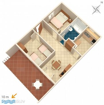 Apartment A-1168-d - Apartments Vinišće (Trogir) - 1168