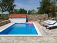 Puljane, Krka, Courtyard 11688 - Vacation Rentals with pebble beach.