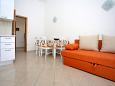 Zečevo Rtić, Dining room u smještaju tipa apartment, dostupna klima i WIFI.