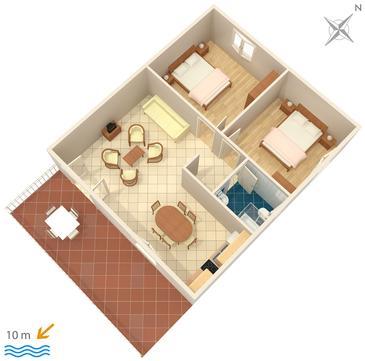Apartment A-122-a - Apartments Zavala (Hvar) - 122
