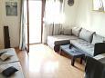 Medulin, Obývací pokoj u smještaju tipa apartment, dostupna klima i WIFI.