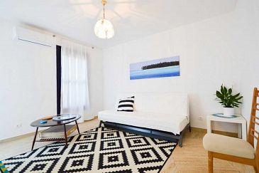 Pula, Obývací pokoj u smještaju tipa apartment, dostupna klima i WIFI.