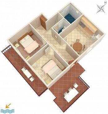 Apartament A-132-a - Apartamenty Gršćica (Korčula) - 132