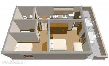 Sućuraj, Plan kwatery w zakwaterowaniu typu apartment, dopusteni kucni ljubimci i WIFI.