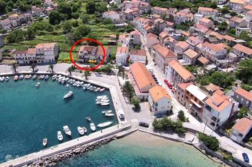 Property Račišće (Korčula) - Accommodation 161 - Apartments near sea with pebble beach.