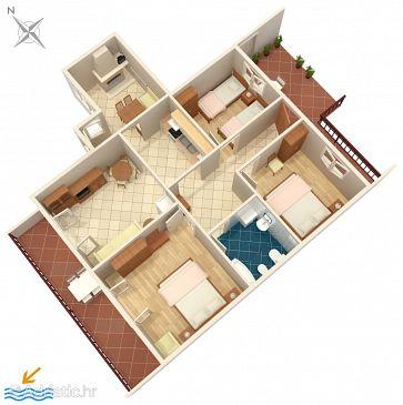 Apartment A-182-a - Apartments Zavalatica (Korčula) - 182