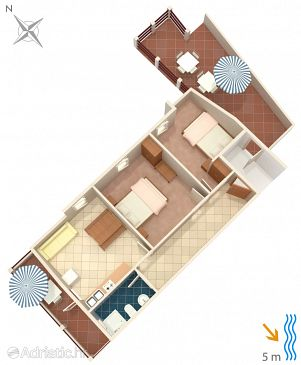 Zavalatica, Plan kwatery u smještaju tipa apartment, WIFI.
