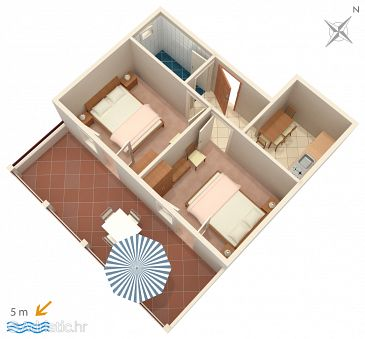 Apartment A-183-c - Apartments Zavalatica (Korčula) - 183
