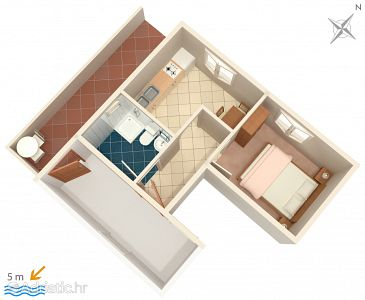 Apartment A-183-e - Apartments Zavalatica (Korčula) - 183