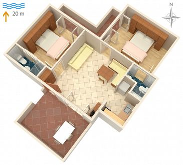 Apartament A-2001-b - Kwatery Supetarska Draga - Donja (Rab) - 2001