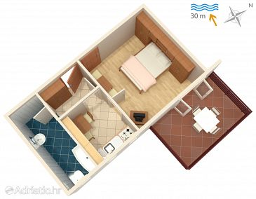Apartment A-2014-a - Apartments and Rooms Barbat (Rab) - 2014