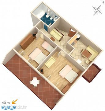Apartment A-2043-a - Apartments Mavarštica (Čiovo) - 2043